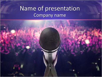 Singing For Fans PowerPoint Template