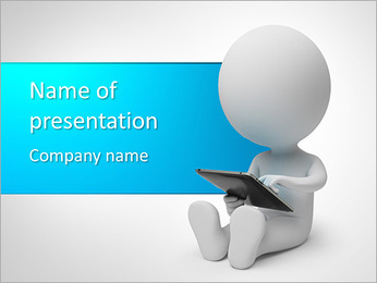 Using IPad PowerPoint Template
