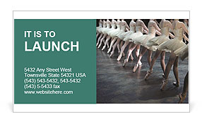 Ballet Performance Business Card Template