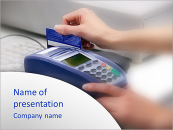 Pay With Credit Card PowerPoint Template