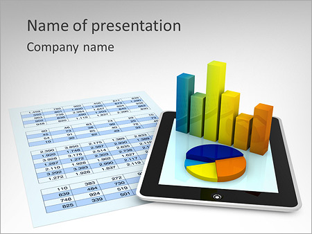 Financial Report In Ipad Powerpoint Template Backgrounds Google