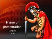 Roman Warrior Sjablonen PowerPoint presentaties