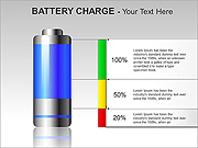Battery Charge PPT Diagrams & Chart