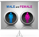 Male and Female PPT Diagrams & Chart