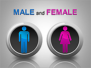 Male and Female PPT Diagrams & Charts