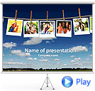 Photo In Line Animated PowerPoint Template