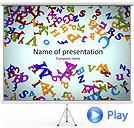 Different Letters Animated PowerPoint Template