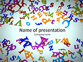 Different Letters Animated PowerPoint Templates - Slide 1