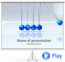 Universal Pendulums Animated PowerPoint Template