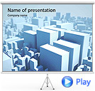 Megapolis Miniature Model Animated PowerPoint Template
