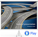 Road In Metropolis Animated PowerPoint Templates
