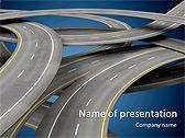 Road In Metropolis Animated PowerPoint Template - Slide 1