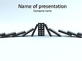 Domino Game Animated PowerPoint Template - Slide 1