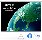 Earth View Animated PowerPoint Template