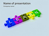 Learn Puzzle Animated PowerPoint Template - Slide 1