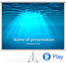 Light Under Water Animated PowerPoint Template