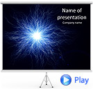 Blue Splash Of Light Animated PowerPoint Template