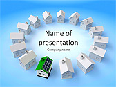New Building Model Animated PowerPoint Template - Slide 1