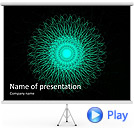 Green Ornament Animated PowerPoint Template