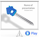 Key To New House Animated PowerPoint Template