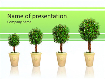 Growth Of Trees PowerPoint Template