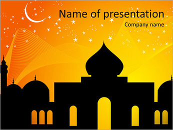 Mosque Illustration PowerPoint Template