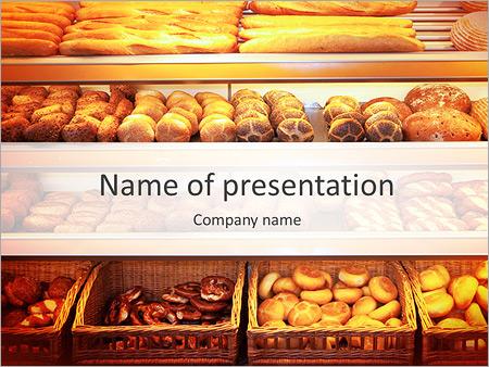 Food drink powerpoint templates backgrounds google slides bakery at supermarket powerpoint template toneelgroepblik Gallery