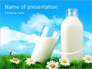 Bottle Of Milk PowerPoint Templates