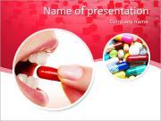 A mulher toma pílula Modelos de apresentações PowerPoint