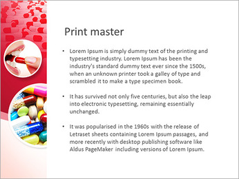 Woman Takes Pill PowerPoint Template - Slide 76