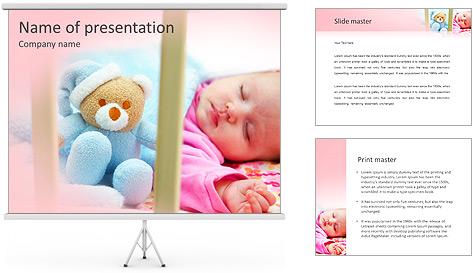 Sleeping Baby PowerPoint Template