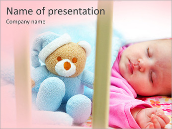 Sleeping Baby PowerPoint Templates - Slide 1