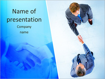 Greeting Hand Shake PowerPoint Templates - Slide 1