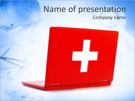 computer first aid powerpoint template & backgrounds id 0000005216, Powerpoint templates