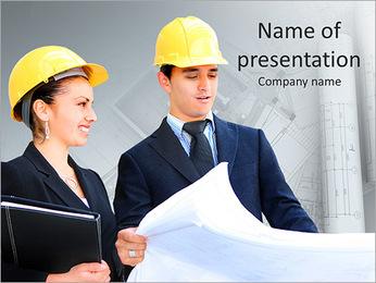 Construtores Colegas Modelos de apresentações PowerPoint - Slide 1
