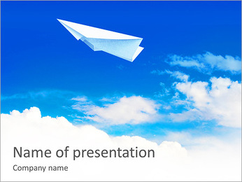 Plane Made Of Paper PowerPoint Template