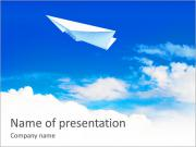 Plane Made Of Paper PowerPoint Templates