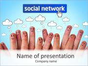 Red Social Plantillas de Presentaciones PowerPoint