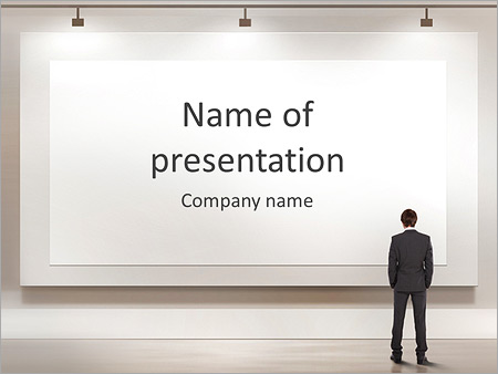 blank billboard powerpoint template & backgrounds id 0000005246, Modern powerpoint