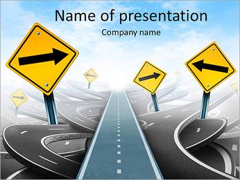 Verkeersborden Sjablonen PowerPoint presentatie