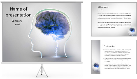 Colorful Brain PowerPoint Template & Backgrounds ID 0000005262 ...