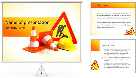 Safety Sign PowerPoint Template Backgrounds ID 0000005277 – Safety Powerpoint Template