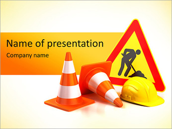 Safety Sign I pattern delle presentazioni del PowerPoint