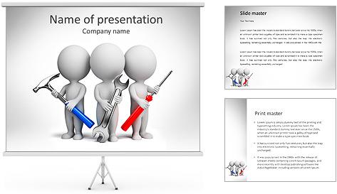 Team Of Mechanics PowerPoint Template
