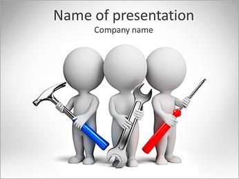 Team Of Mechanics PowerPoint Template - Slide 1
