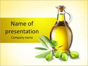 Bottle Of Olive Oil PowerPoint Templates
