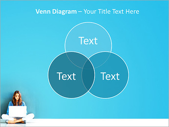Lady With Laptop PowerPoint Template - Slide 13