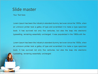 Lady With Laptop PowerPoint Template - Slide 2