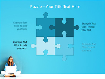 Lady With Laptop PowerPoint Template - Slide 23