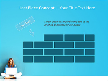 Lady With Laptop PowerPoint Template - Slide 26